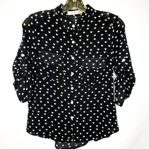 Button Up Collar Shirt Blouse
